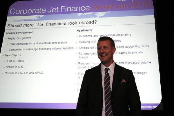 Chad Anderson speaks at Corporate Jet & Helicopter Finance Americas 2013.