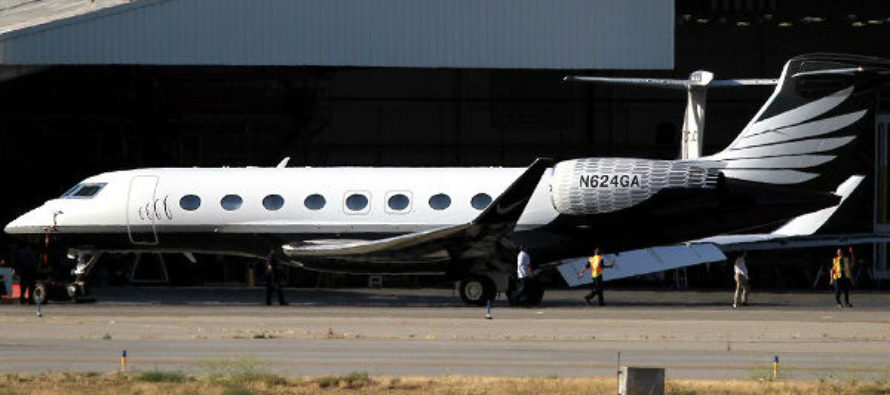 Nike's brand new Gulfstream G650 private jet leaves paint shop