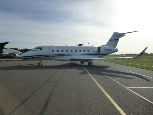 Gulfstream G280 parked during Business & General Aviation Day 2013 show at Cambridge