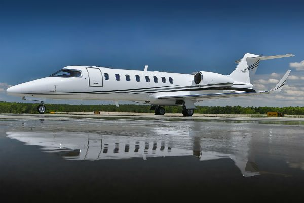 This stunning Learjet 45XR is being displayed by Jetcraft at the Henderson Airport static display.