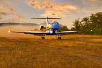 First RFDS PC-24 landing on unpaved dirt airstrip