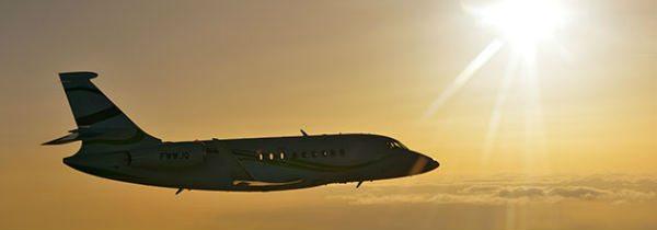 Dassault Falcon 2000S flying