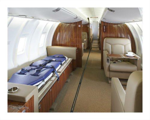 Flying Colours CRJ ExecLiner medevac interior