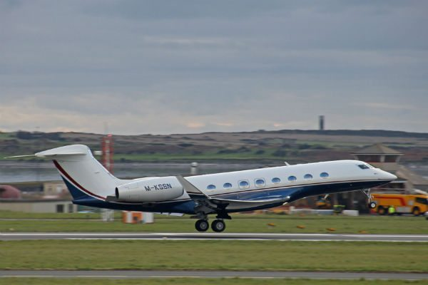 One of seven G650 deliveries from one week.