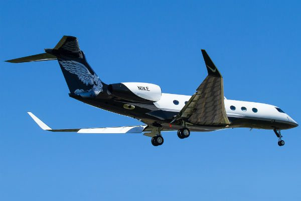 the feathered gulfstream g650 owned by nikes phil knight