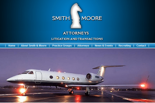 Smith & Moore's website features lots of aircraft imagery.