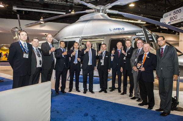 Airbus Helicopters and LCI teams on the stand at Heli-Expo 2014