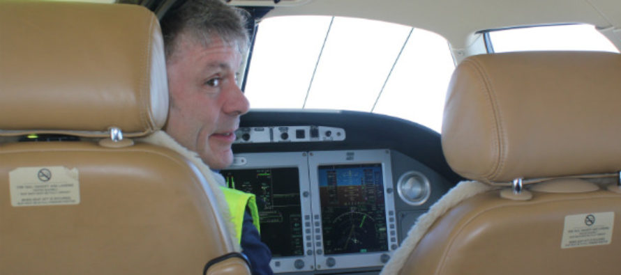 Bruce Dickinson flies Sainsbury CEO on charity private jet tour