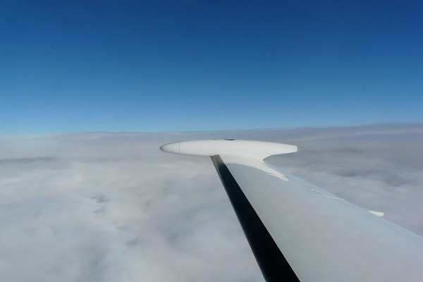 Eclipse wing in-flight