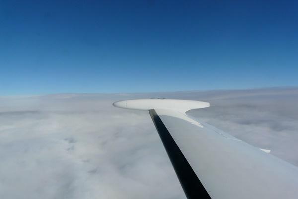 Eclipse wing in-flight