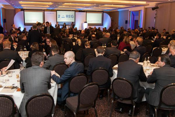 Delegates cast their votes at International Helicopter Finance 2014.