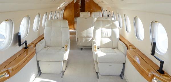 interior of Dassault Falcon 7X