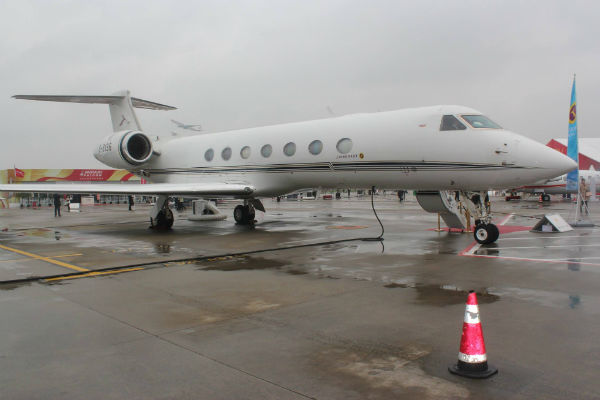 Deer Jet showed off its Gulfstream G550 at ABACE 2014 in Shanghai.