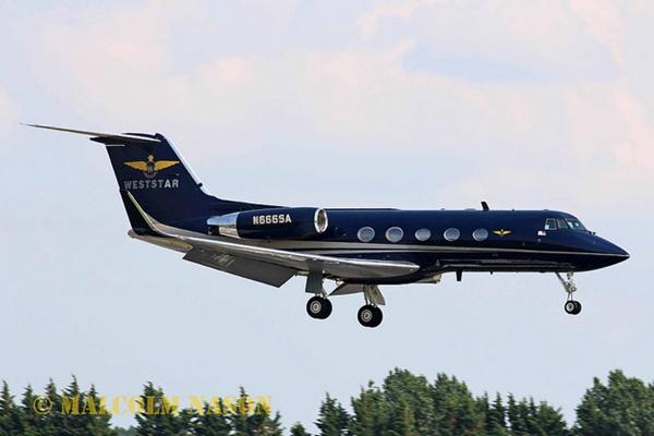 Gulfstream II N666SA (Photo: Malcom Nason)