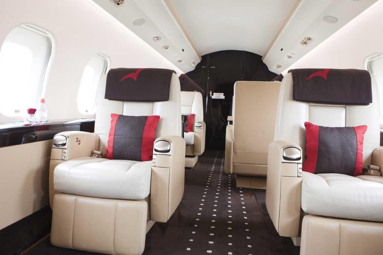 VistaJet Bombardier Global 6000 interior