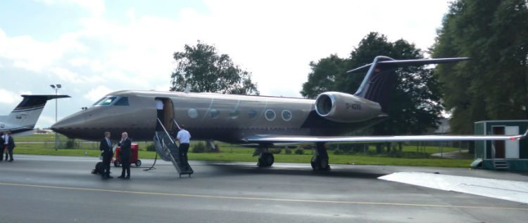 Gulfstream G45 parked in static display at BGAD 2015 (Credit: Terry Spruce)