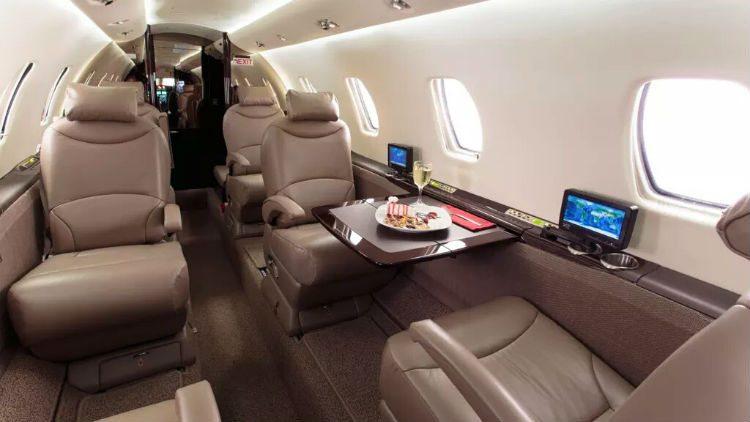Cessna Citation XLS cabin interior