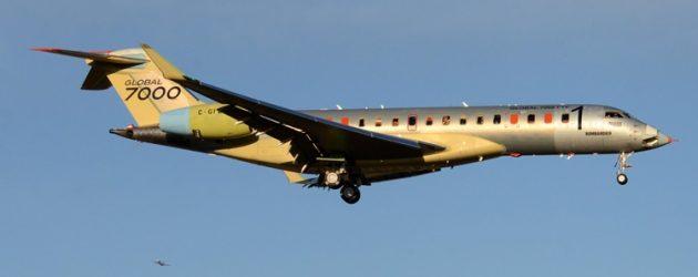 Global 7000 transfers to Wichita flight test centre