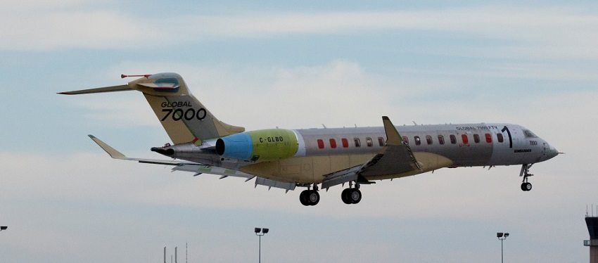 The Global 7000 first flight test vehicle has successfully transferred to the Bombardier Flight Testing Center in Wichita ahead of schedule. The program's flight validation is progressing well with five additional flights completed since the historic first flight on November 4, 2016.