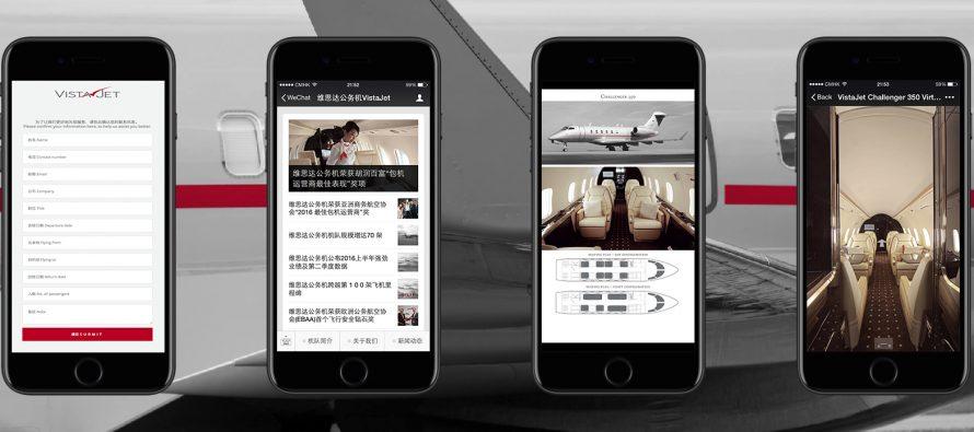 VistaJet adds WeChat sales capability