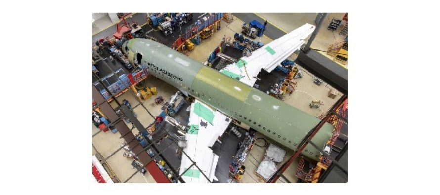 First ACJ320neo enters final assembly