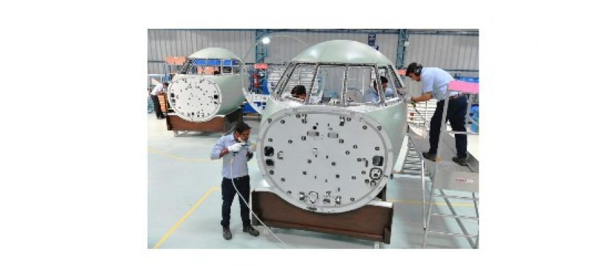 First Cockpit assembly of Falcon 2000 to be delivered by DRAL to Dassault Aviation